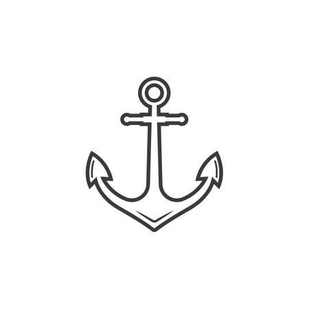 Anchor line  icon  vector  illustration design template