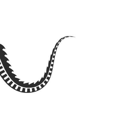 Dragon tail  icon template vector illustration design