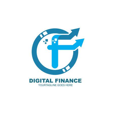f letter arrow for  business finance  icon vector illustration design template web Vettoriali