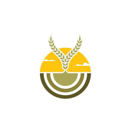 harvest icon vector illustration design template web Vettoriali