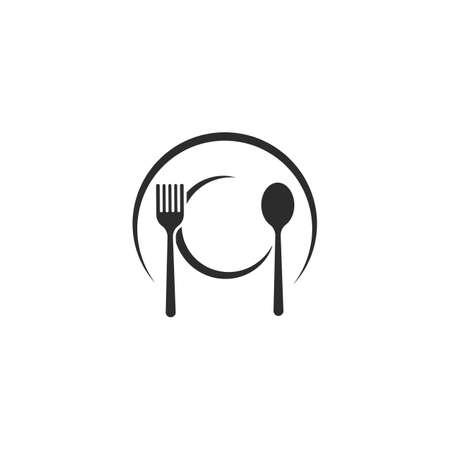 fork,spoon icon vector illustration design template Vettoriali