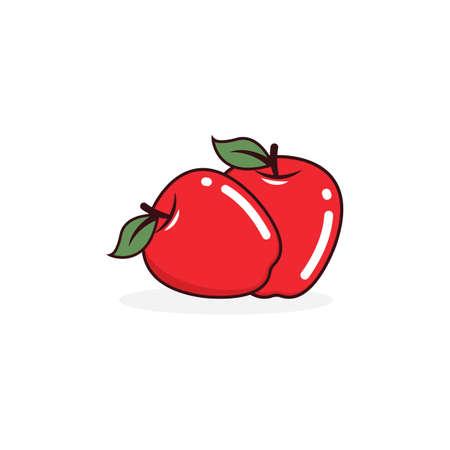 Apple icon vector illustration design template