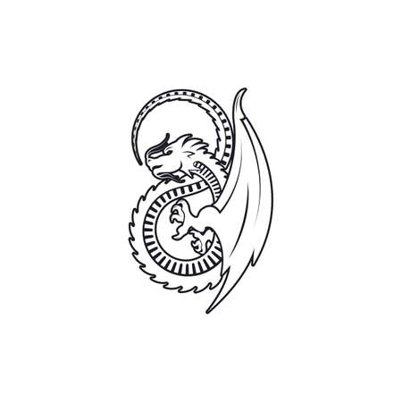 Dragon icon template vector illustration design