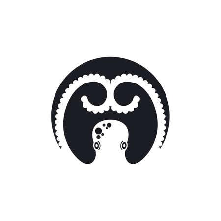 octopus icon vector illustration design template