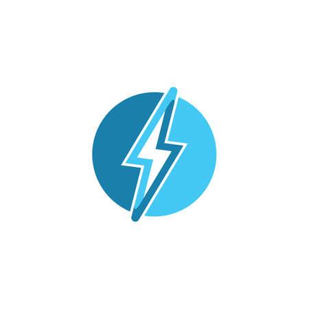 thunder vector icon illustration design template