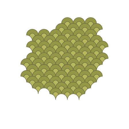 fish scales vector illustration design template web