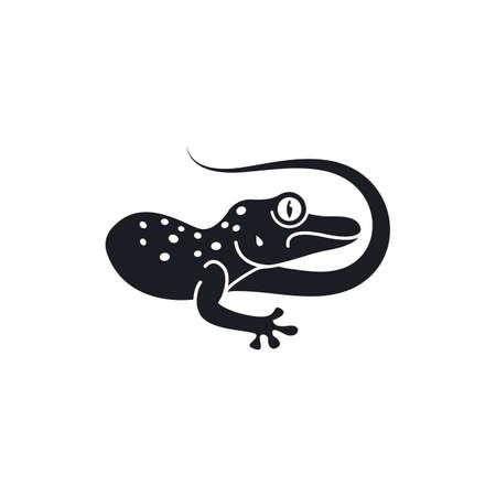 Gecko vector icon illustration design template
