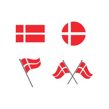 denmark  flag icon vector illustration design template