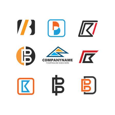B Letter Icon Design Vector Illustration 向量圖像