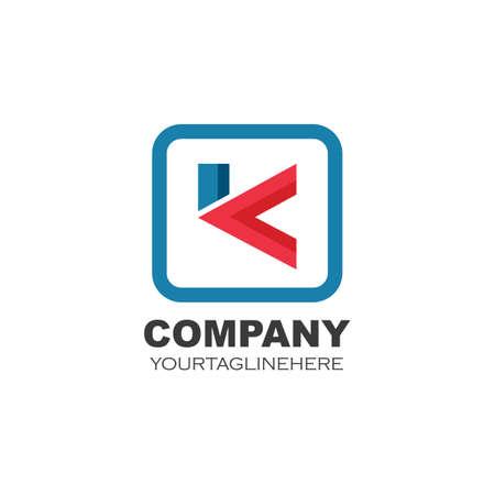 k Letter concept design icon  Vector Illustration template web