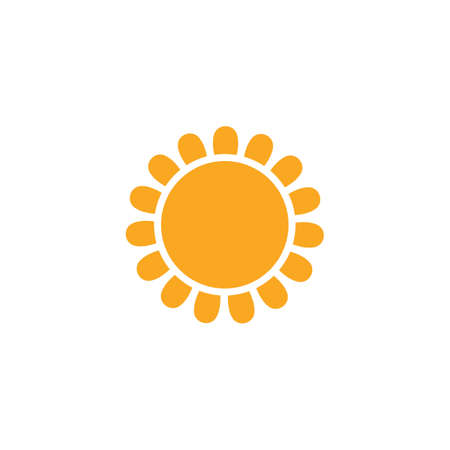 sun ilustration design vector icon template