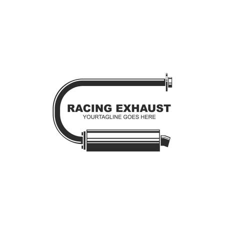 motorcycle exhaust icon vector illustration design template 向量圖像