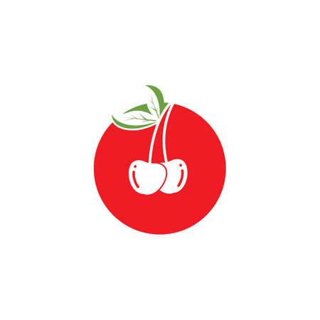 cherry fruit icon vector illustration template