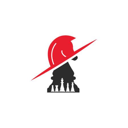 horse knight chess  icon vector illustration design template