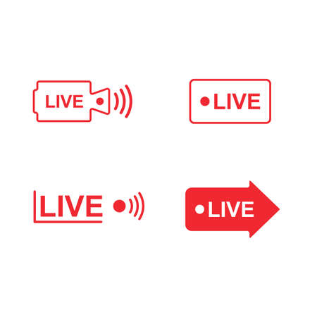 live streaming vector icon sign design template web
