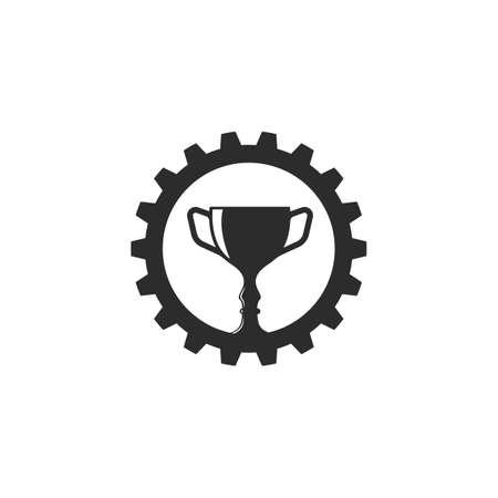 Trophy illustration vector icon of winner illustration design template 向量圖像