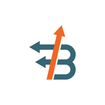 B Letter arrow   Icon  Vector Illustration design