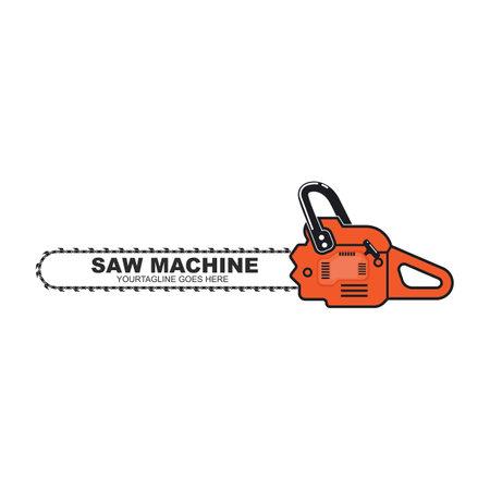 saw chain machine icon vector illlustration design template web 向量圖像