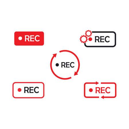recording icon vector illustration design template web