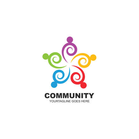 the character of community,network and social people  icon design 向量圖像
