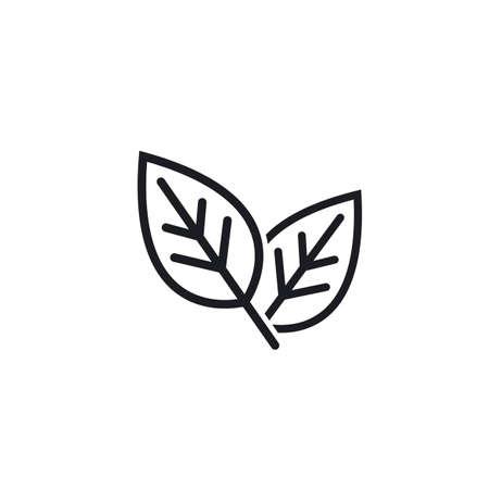 organic leaves line  icon vector design template web