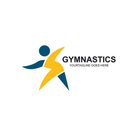 gymnastics or aerobics icon vector illustration design template web Vecteurs