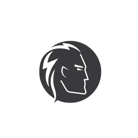 cartoon face man flat icon vector illustration design template web Illustration