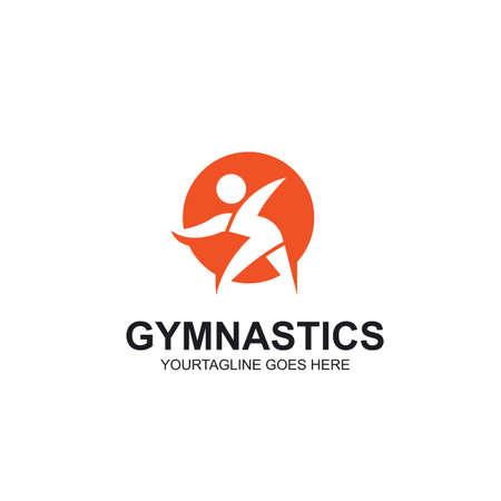 gymnastics or aerobics icon vector illustration design template web