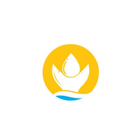 fish oil icon vector concept design template