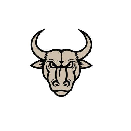 angry bull mascot icon vector illustration design template Illustration