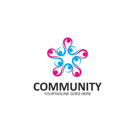 the character of community,network and social people  icon design Illustration