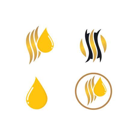 hair nutrition oil drop icon vector illustration design template