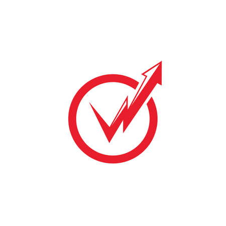 check mark arrow flash  icon vector illustration design concept Illustration