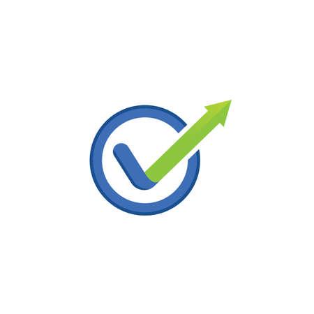 arrow check mark icon vector illustration design  concept