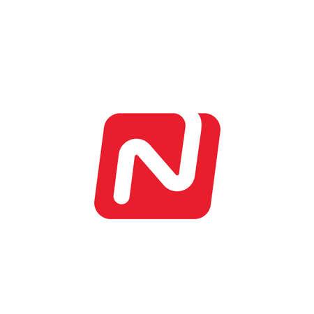 n Letter icon  Vector Illustration concept design web