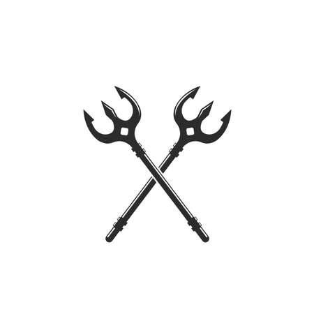 Trident  Template vector icon illustration design web