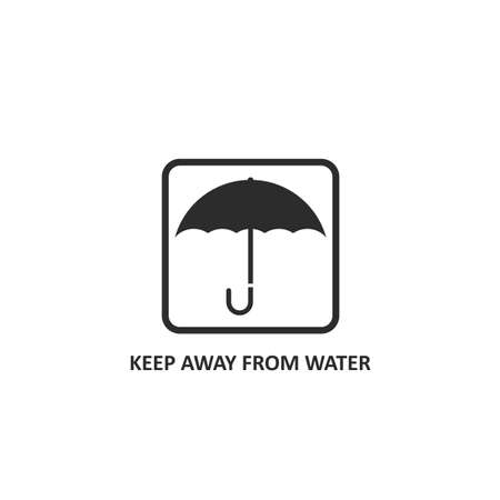 keep dry and keep away from water sign icon vector illustration design template web Illustration