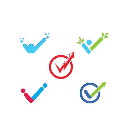 check mark icon vector illustration design