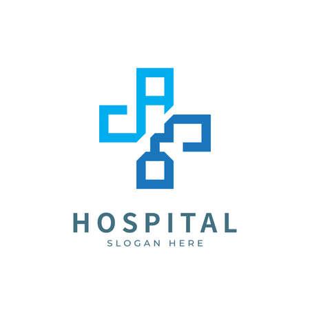 Hospital logo designs concept. Medical health-care logo designs template.