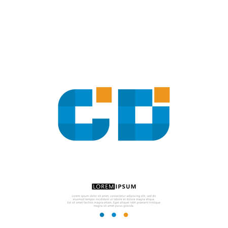 Simple Elegant Initial Letter Logo Design. Elegant Identity Design With Blue And White Background.
