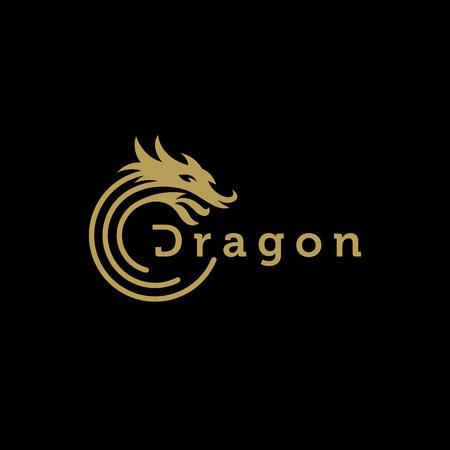 Dragon logo design vector template Logo