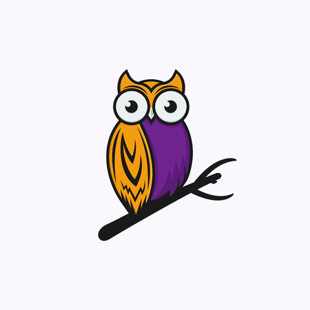 Owl logo vector Illustration template Banque d'images - 113533989
