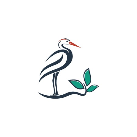 Bird Logo Vector Illustration Template Banque d'images - 113534046