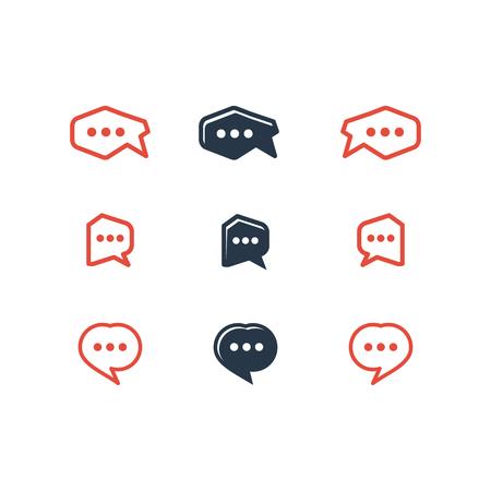 Talk vector logotype Stock Illustratie