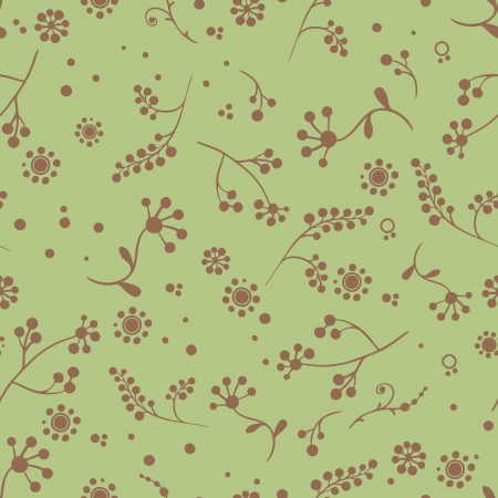 Simply seamless  floral pattern with pastel colors