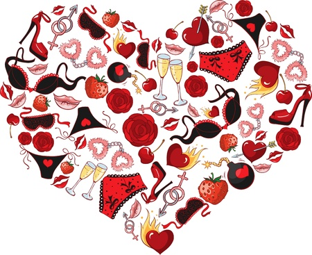 Heart, consisting of a number of individual objects Stock Vector - 17378680
