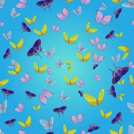 Seamless pattern with batterflies