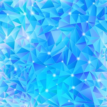 Geometric background of blue triangle Illustration