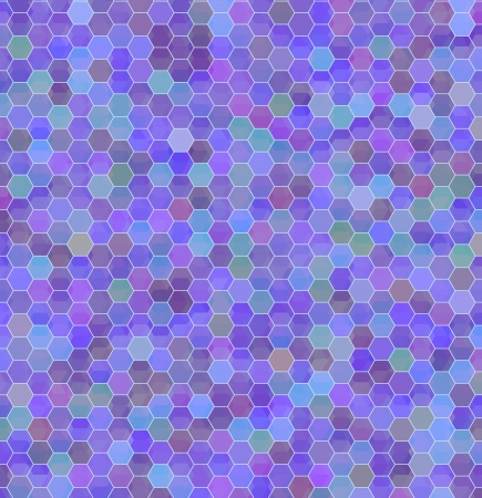 Geometric background of colored hexagons