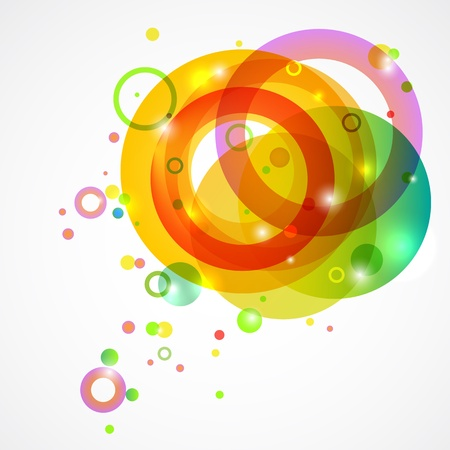 Bright colored circles on a white background